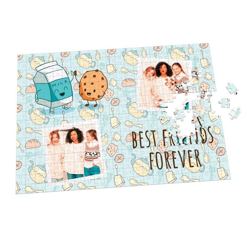 Puzzle de amigas personalizado con dos fotos - Varios tamaños