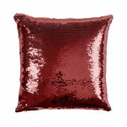 Cojín San Valentín personalizado de lentejuelas - Color rojo - Tapado