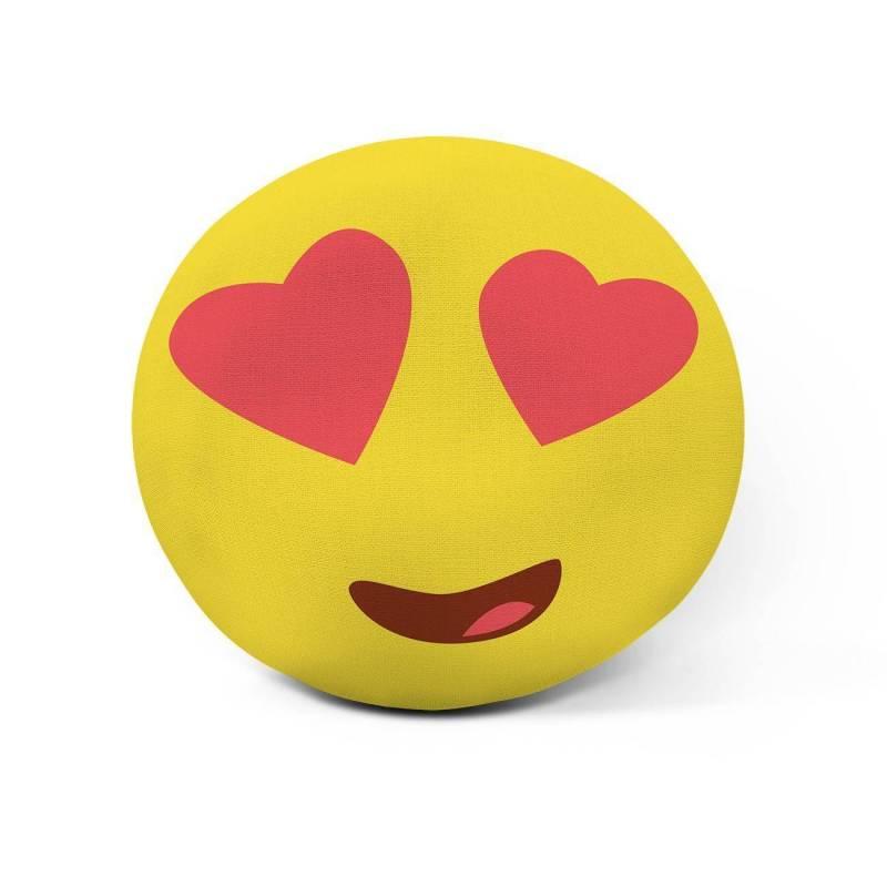 Cojín emoji personalizado Ojos con corazones