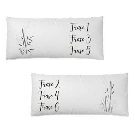 Pack cojines personalizados para cama estilo oriental con bambú