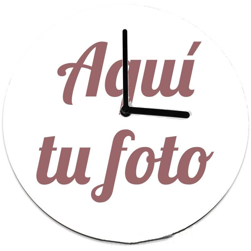 Reloj de pared personalizado con foto