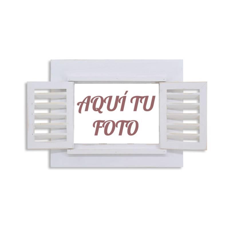 Cuadro personalizado con foto original con contraventana color blanco