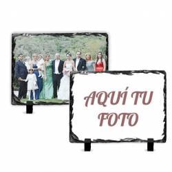 Portafotos de piedra pizarra personalizado con foto