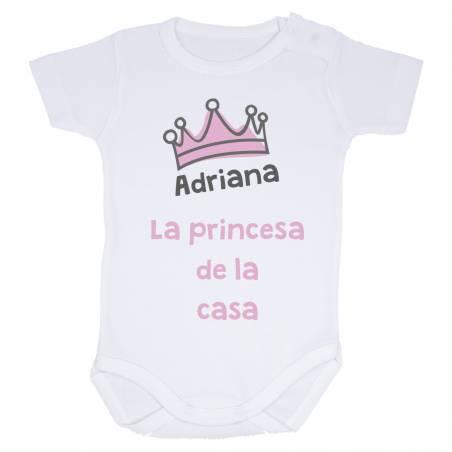 """Body personalizado """"La princesa de la casa"""""""