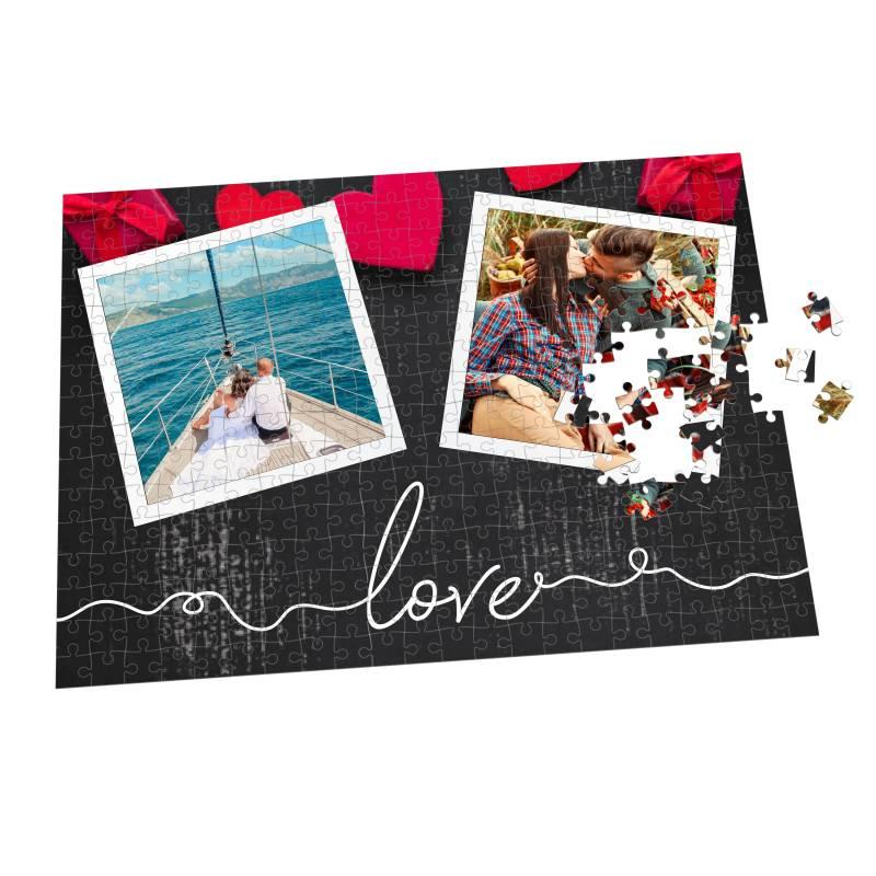 Puzzle de pareja personalizado con dos fotos