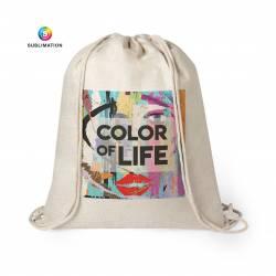Mochila saco tipo lino personalizada con foto