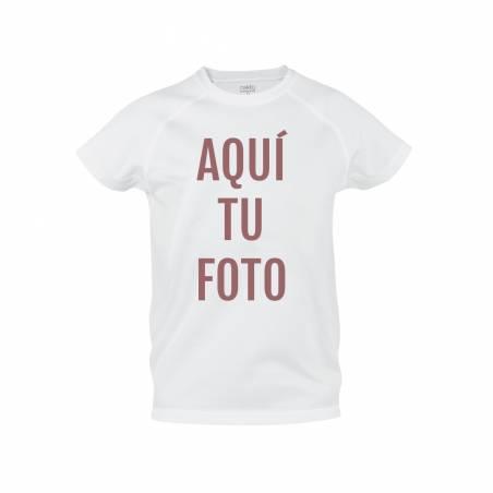Camiseta técnica para niño personalizada con foto