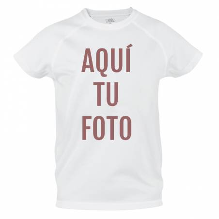 Camiseta técnica de adulto personalizada con foto