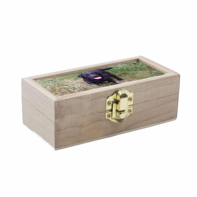 Caja de madera pequeña personalizada con foto