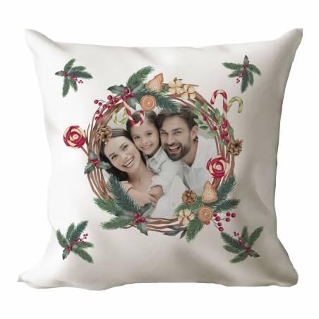 Cojín Navidad con foto personalizada
