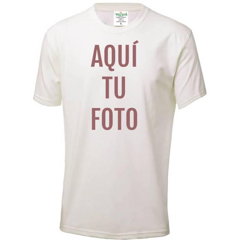 "Camiseta adulto ""Keya"" Organic 150g/m2 personalizada con foto"