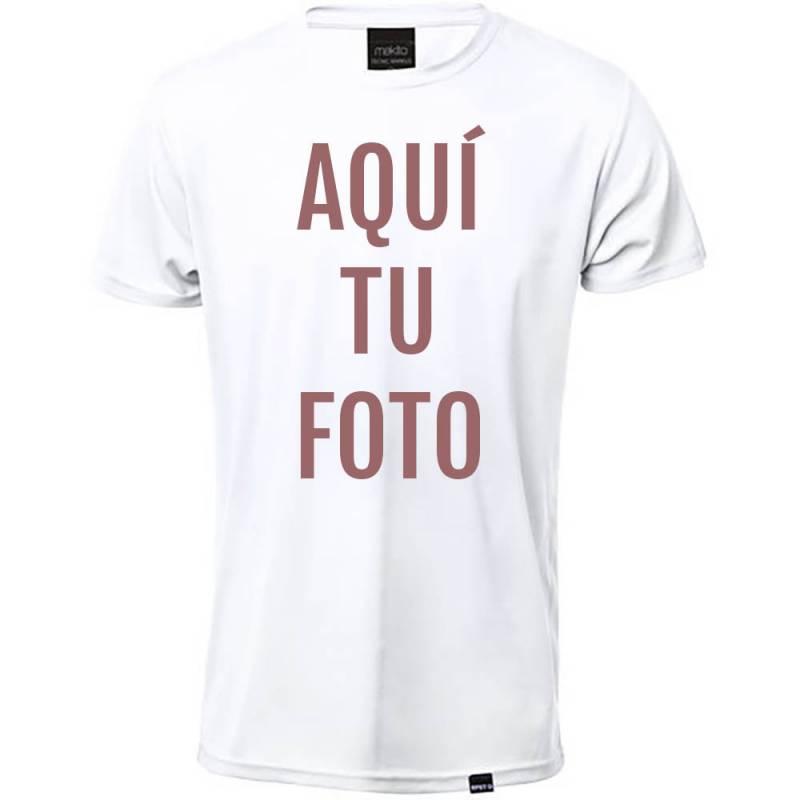 Camiseta adulto técnica Markus personalizada con foto