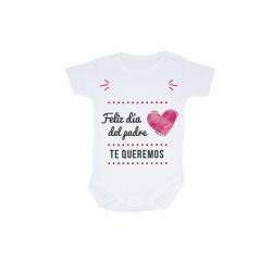 """Body bebé personalizado """"Día del padre"""" de manga corta para personalizar"""