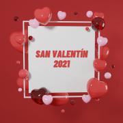 Marco de corazones San Valentín