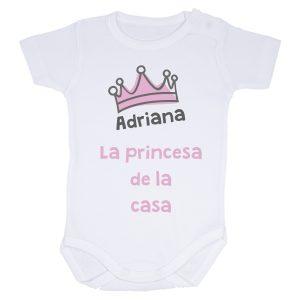 body personalizado niña la princesa de la casa