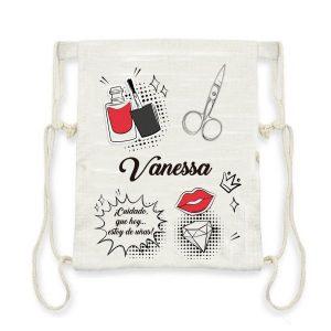 mochila saco esteticista personalizada