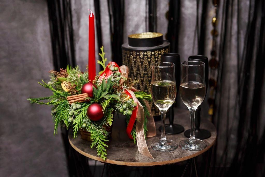 mesa decorativa de navidad