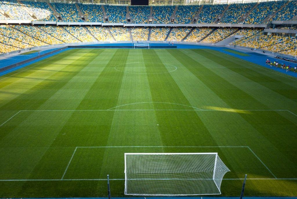 vista panorámica estadio de futbol