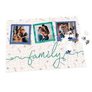 puzzle personalizado con diseño de familia