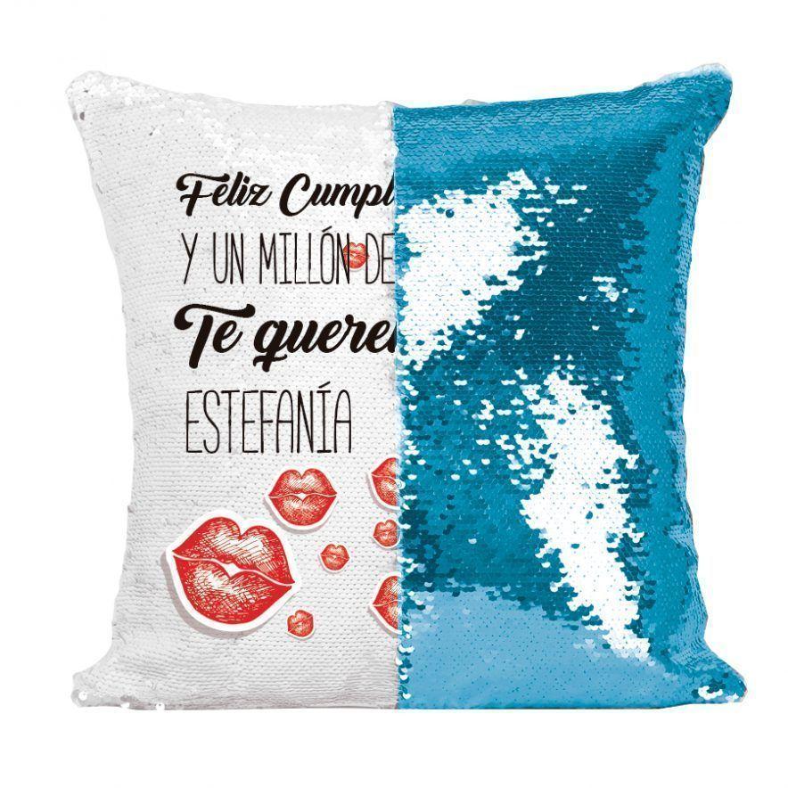 cojin-de-lentejuelas-cumpleanos-y-millones-de-💋besos azul