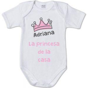 """Body personalizado """"La princesa 👸 de la casa"""""""