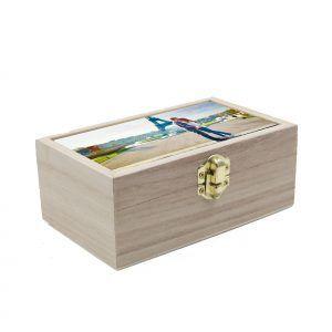 Caja de madera personalizada grande