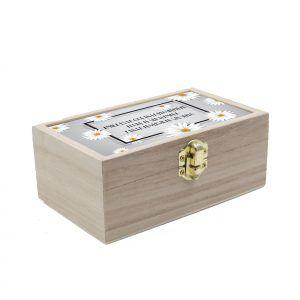 Caja de madera personalizada con frase 🌼🌼