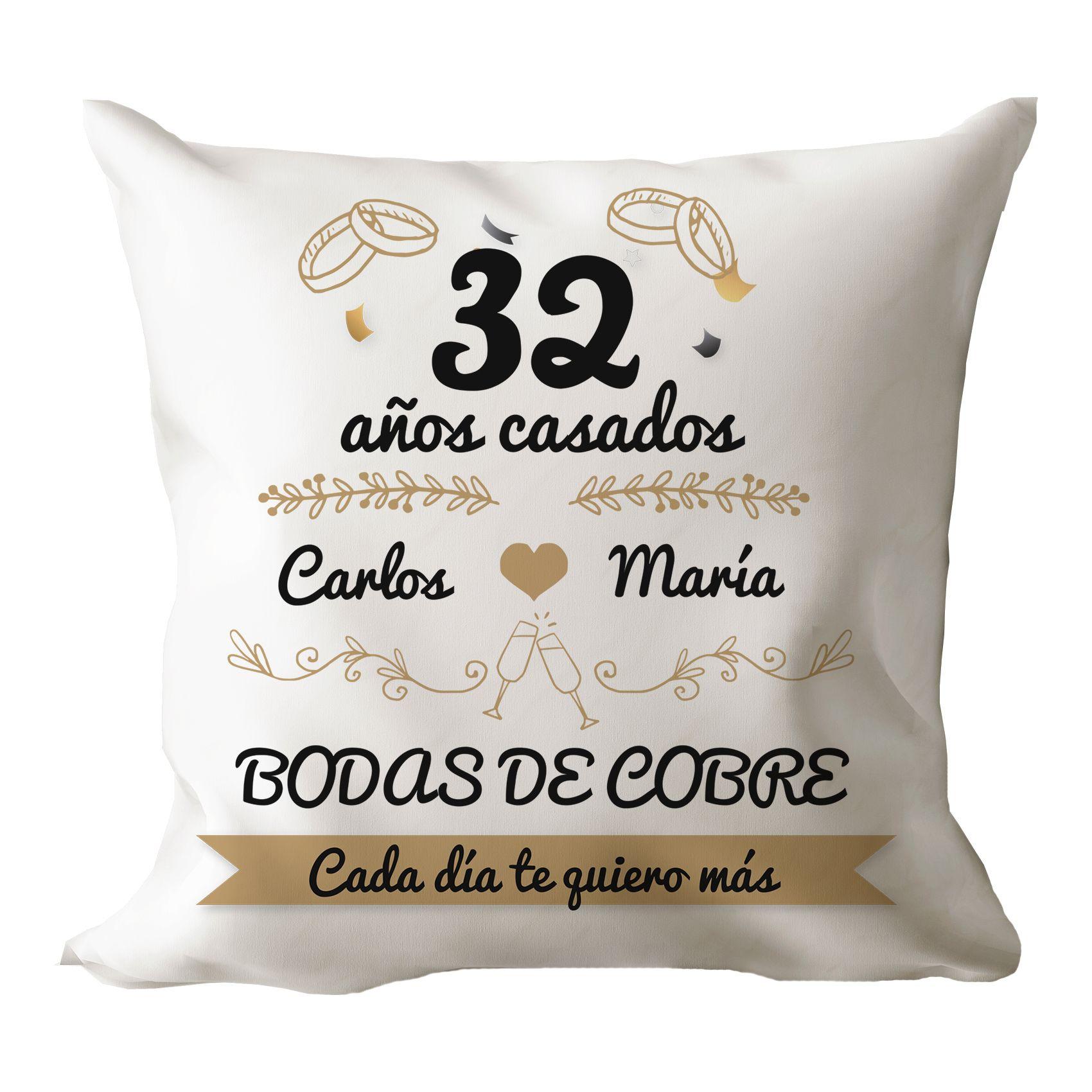Cojín Original Bodas De Para Aniversario De Bodas