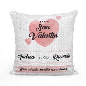 Cojín personalizado para San Valentín