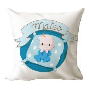 Cojín personalizado para recién nacido (Niño)