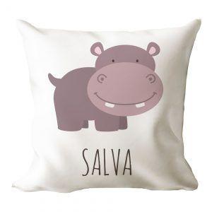 Cojín personalizado hipopótamo