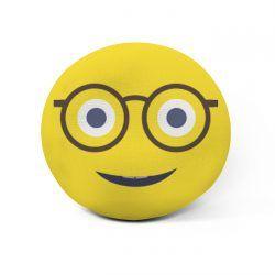 Cojín emoji gafas personalizado 🤓